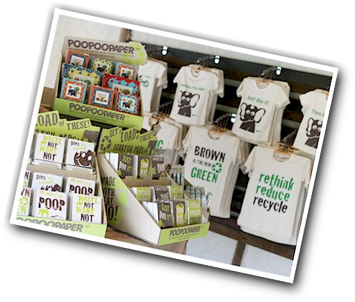 Eco friendly_sustainable gift and souvenir shop_T-shirts stationery